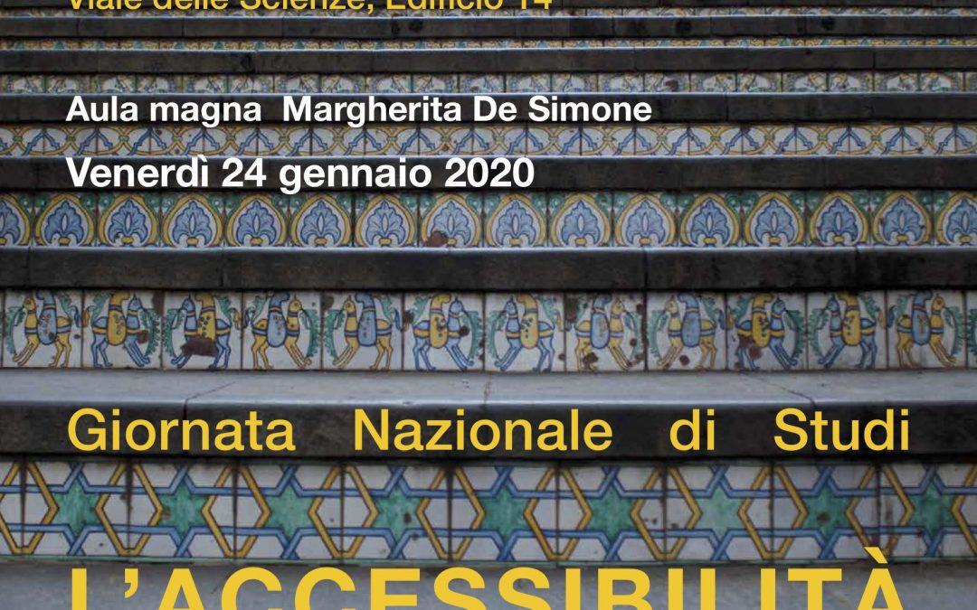 """Giornata di Studi """"L'ACCESSIBILITA' NEL PATRIMONIO ARCHITETTONICO""""- il 24 Gennaio a Palermo"""