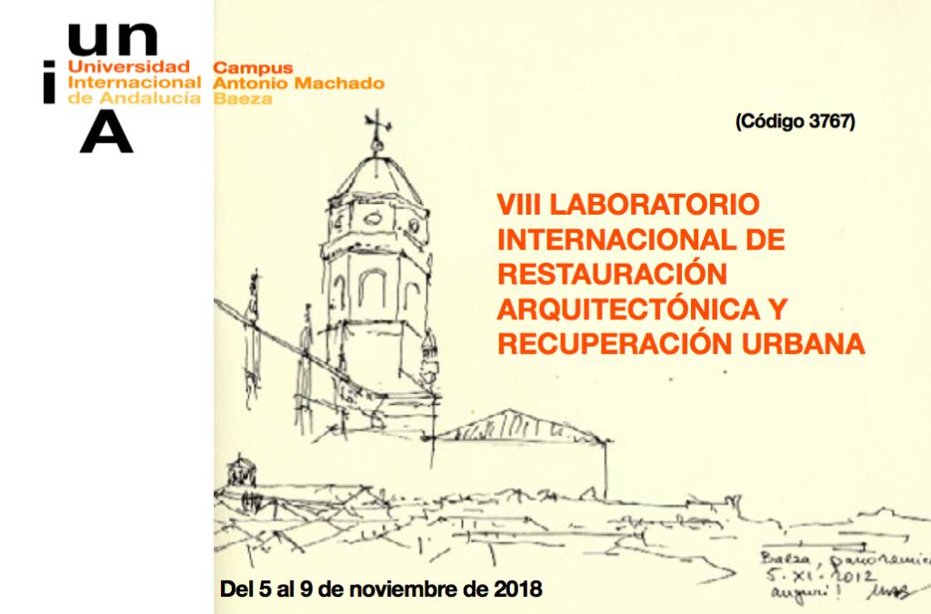 VIII LIRAU 2018 – dal 5 al 9 Novembre a Baeza (Spagna)